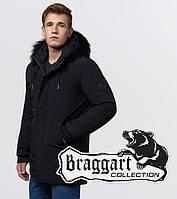 Braggart 'Black Diamond'. Зимняя куртка опушка натуральный енот 9255 черный, фото 1