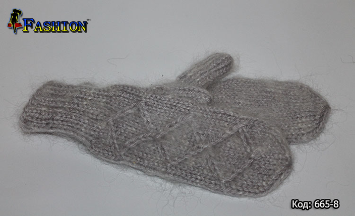 Вовняні рукавиці Ромби, фото 2