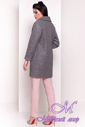Серое женское осеннее пальто (р. S, M, L) арт. Вива 4558 - 34072, фото 2