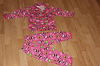 Пижама на пуговицах классическая детская Начес. Размер 98 - 104 см