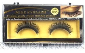 Ресницы накладные Mink (натуральная норка) 1 пара № 005