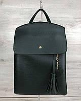 Зеленая сумка-рюкзак трансформер женская через плечо 44608, фото 1