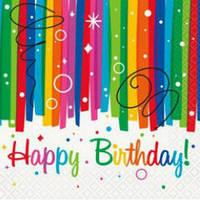 """Салфетки """"Happy Birthday""""   (16шт/уп)"""