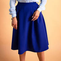 Красивая женская юбка со складками. Размеры 44-50, фото 1