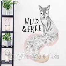Интерьерная наклейка на стену Лиса Wild and Free, фото 3
