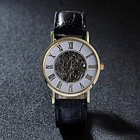 Часы мужские черные в золоте, фото 1