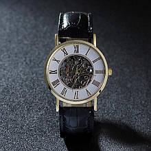 Часы мужские черные в золоте