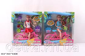 Лялька 28см JX100-67 з велосипедом і аксес