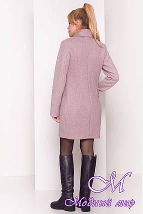 """Женское пальто серого цвета весна-осень (р. S, M, L) арт. """"Габриэлла 4417"""" - 21401, фото 2"""
