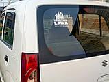 Автомобильная наклейка на стекло Якутская лайка на борту (Yakutian Laika On Board), фото 2
