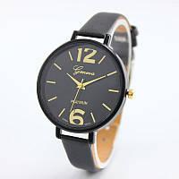 Наручные часы  Geneva черные тонкие
