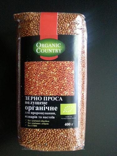 Зерно проса нелущенное органическое ТМ ORGANIC COUNTRY 400г