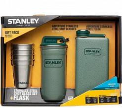 Набор Stanley : фляга, 4 рюмки и фляга Adeventure 0.236 Л зеленый