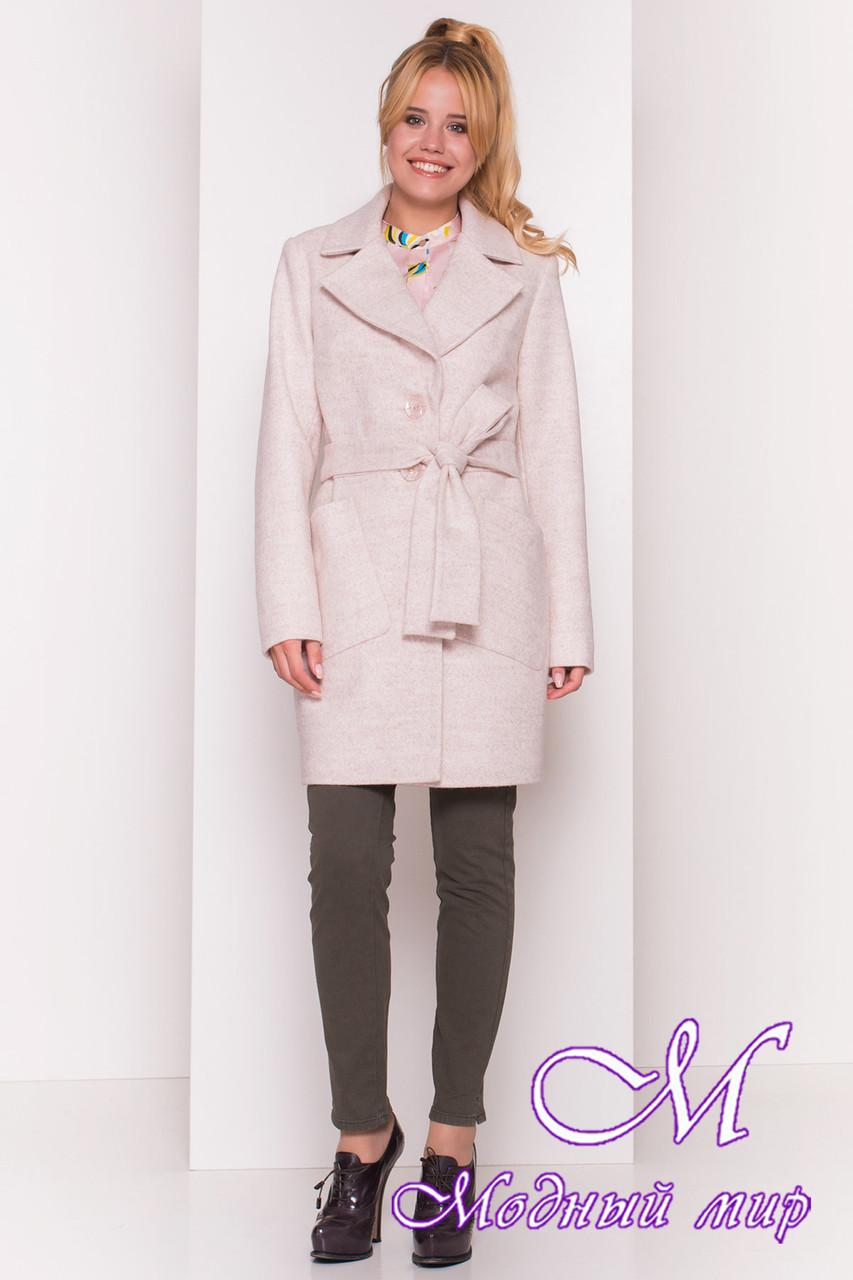 f5f150fd4a3 Женское демисезонное пальто бежевого цвета (р. S