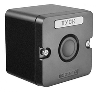 Пост кнопочный ПКЕ212-1У2 чёрный, фото 1