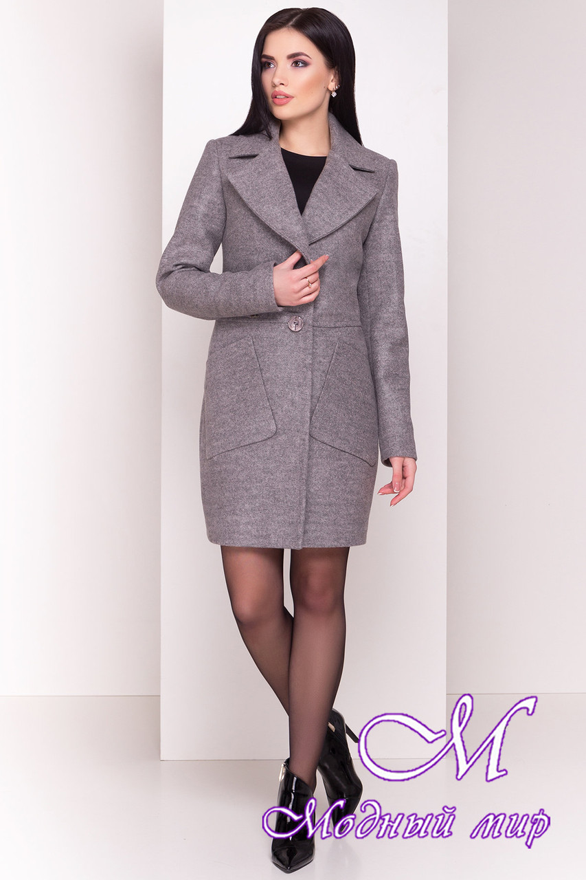 """Женское демисезонное пальто с поясом (р. S, M, L) арт. """"Габриэлла 4417"""" - 21938"""