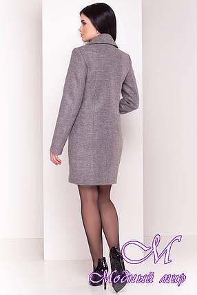 """Женское демисезонное пальто с поясом (р. S, M, L) арт. """"Габриэлла 4417"""" - 21938, фото 2"""