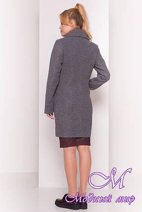 """Женское серое осеннее пальто с поясом (р. S, M, L) арт. """"Габриэлла 4417"""" - 36661, фото 2"""