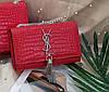 Модная сумка-клатч Ив Сен Лоран YSL эко-кожа дорогой Китай красная