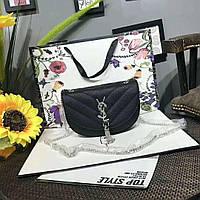 Модная сумка-клатч Ив Сен Лоран YSL эко-кожа дорогой Китай черная