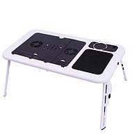 Раскладной столик - подставка для ноутбука Е-Table - 1000320 - столик для ноутбука трансформер, е тейбл с системой охлаждение, кулер ноутбук столик