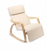 Крісло качалка з підставкою для ніг