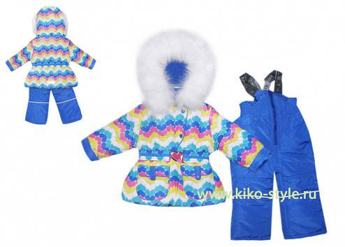 Дитячий зимовий комбінезон для дівчинки від Donilo 3331, 80-104, фото 2
