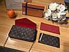 Женский клатч на цепочке Louis Vuitton Луи Виттон эко-кожа дорогой Китай коричневый