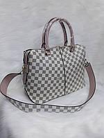 Женская сумка Louis Vuitton Луи Виттон качественная эко-кожа белая