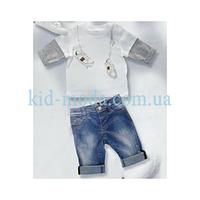 """Комплект летний детский Gucci (шорты, футболка с принтом """"Кеды"""")"""