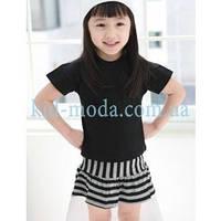 Комплект для девочки (юбка в полоску, футболка)