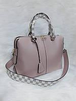 Женская сумка Louis Vuitton Луи Виттон качественная эко-кожа бежевая