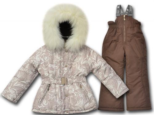 Детский зимний комбинезон для девочки от Donilo  3383 | последний размер 128р.