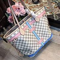 Женская сумка Louis Vuitton Луи Виттон качественная эко-кожа дорогой Китай белая