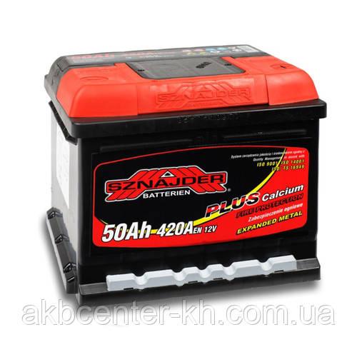 Автомобильный аккумулятор SZNAJDER Plus 6СТ- 50Aз 420A R