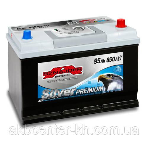 Автомобильный аккумулятор SZNAJDER Silver Premium JP 6СТ- 95Aз 850A R