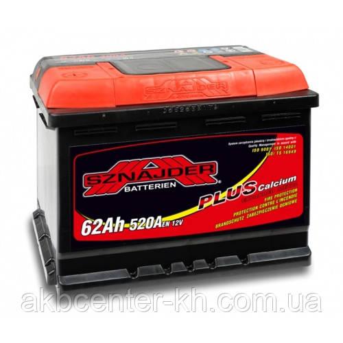 Автомобильный аккумулятор SZNAJDER Plus 6СТ- 62Aз 580A R
