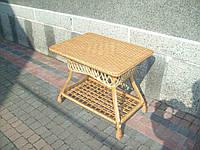 Журнальный столик из лозы плетеный