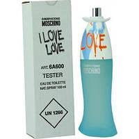 Тестер. Женская туалетная вода Moschino Cheap & Chic I Love Love (Москино Чип энд Чик Ай Лав Лав) 100 мл.