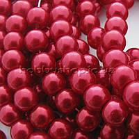 Жемчуг керамический 8 мм красный (100-110 шт)