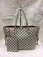 Стильная женская сумка Louis Vuitton Луи Виттон neverfull белая, фото 1