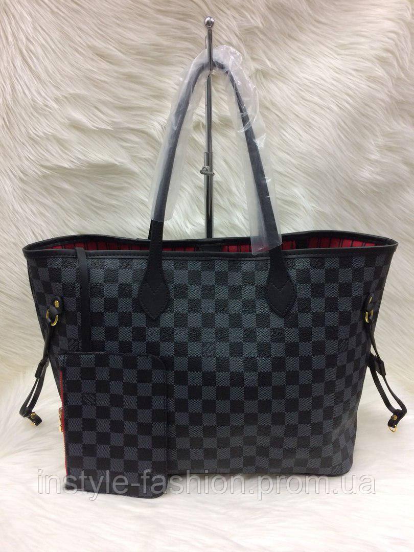 e46d518c26ba Стильная женская сумка Louis Vuitton Луи Виттон neverfull черная ...