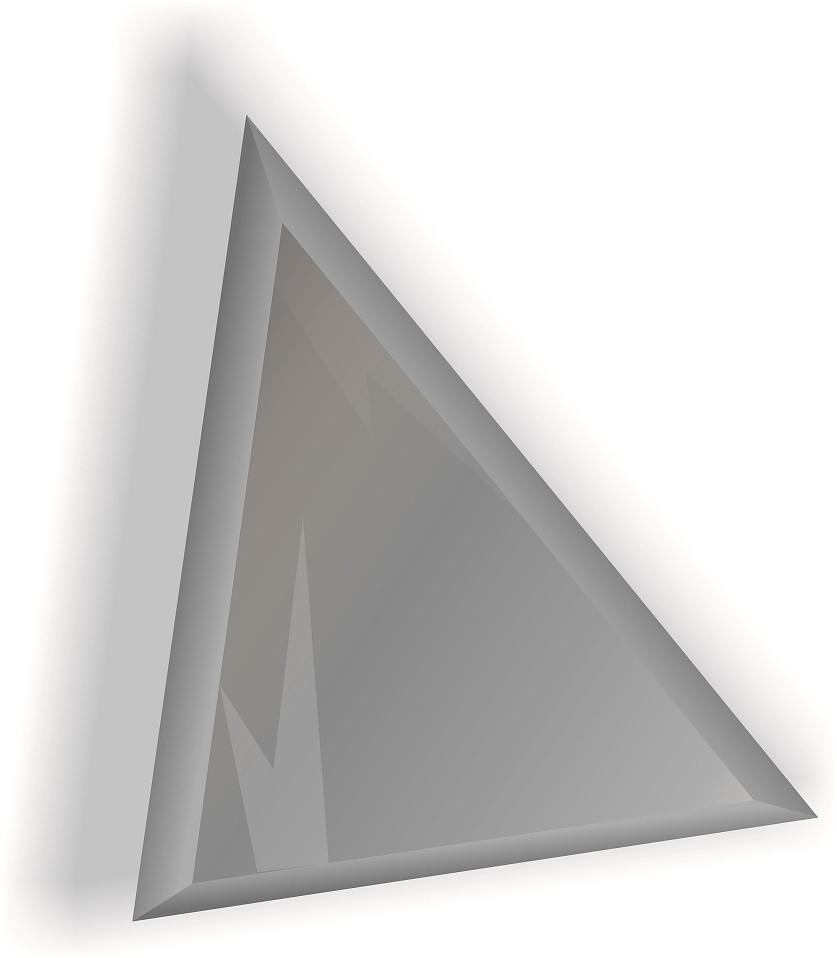 Зеркальная плитка НСК треугольник 225х225 мм фацет 15 мм серебро, фото 1