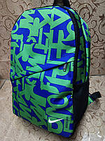 (Усилиная спинак)Принт рюкзак NIKE спортивный спорт  городской  стильный ОПТ, фото 1