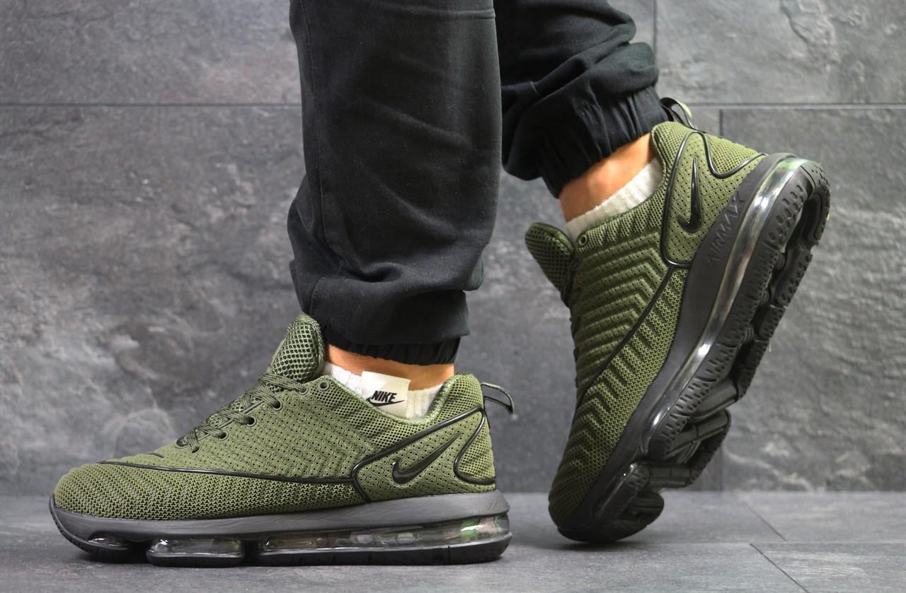 Крутые мужские кроссовки Nike Air Max DLX,темно зеленые