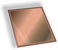 Дзеркальна плитка НСК квадрат 250х250 мм фацет 15 мм бронза, фото 1