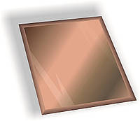 Зеркальная плитка НСК квадрат 250х250 мм фацет 15 мм бронза, фото 1