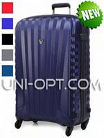 Большой пластиковый чемодан Roncato Uno Zip на 4 колесах