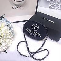 Женский клатч-пояс Chanel Шанель дорогой Китай цвет черный