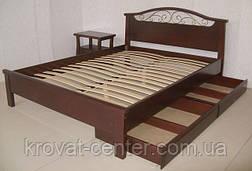 """Кровать полуторная из дерева """"Фантазия - 2"""" от производителя, фото 3"""